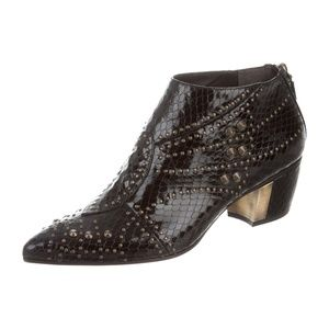 Rodarte Shoes - BRAND NEW RODARTE embossed leather ankle boots